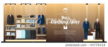 Interior background of luxury men clothing store 44776418