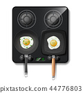 3d realistic gas stove, top view 44776803