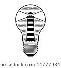 house, lighthouse, bulb 44777984