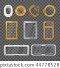 Porthole Realistic Transparent Icon Set 44778528