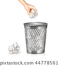 Rubbish Bin Illustration 44778561