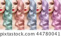 Hair collection Colors Set. Tints 44780041