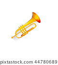 Watercolor trumpet 44780689