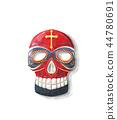 watercolor, mask, tribal 44780691