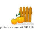 Watercolor pumpkins 44780716