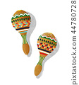 Watercolor maracas 44780728
