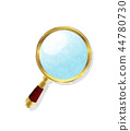 Watercolor magnifying glass 44780730