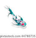 koi, fish, watercolor 44780735