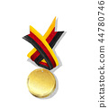 medal gold flag 44780746