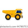 Watercolor dump truck 44780753