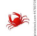 Watercolor crab 44780759