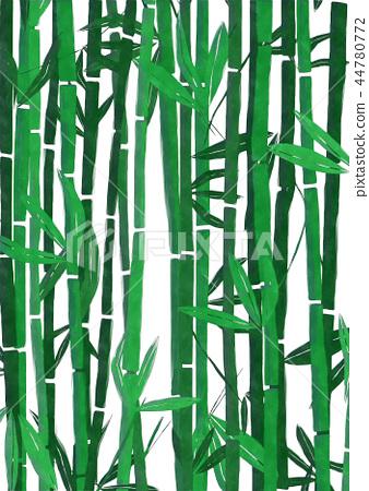 Watercolor bamboo 44780772
