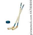 hockey stick icon 44780809
