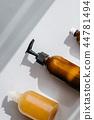 Bottles with organic cosmetics overhead 44781494