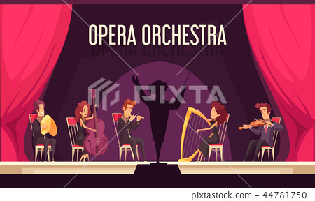 Theater Orchestra Performance Flat 44781750