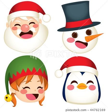 Christmas Character Faces 44782169