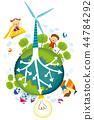 綠色增長,能量,例證 44784292