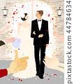 愉快,婚姻,婚禮,例證 44784634