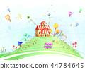 마을,풍경,일러스트 44784645