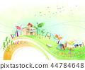 镇,风景,例证 44784648