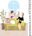 咖啡馆,生活,例证 44784654