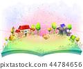 镇,风景,例证 44784656