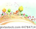 마을,풍경,일러스트 44784714