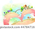 마을,풍경,일러스트 44784716