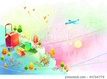 鎮,風景,例證 44784779