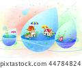 마을,풍경,일러스트 44784824