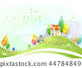 마을,풍경,일러스트 44784849