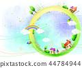 마을,풍경,일러스트 44784944