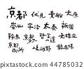 Kyoto brush character 44785032