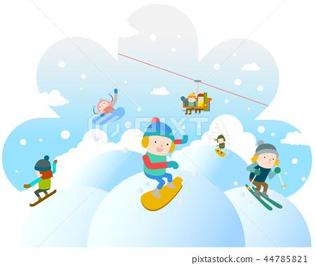 冬天,插圖 44785821