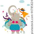 动物,有趣,插图 44785824