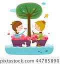 快樂,夫婦,插圖 44785890