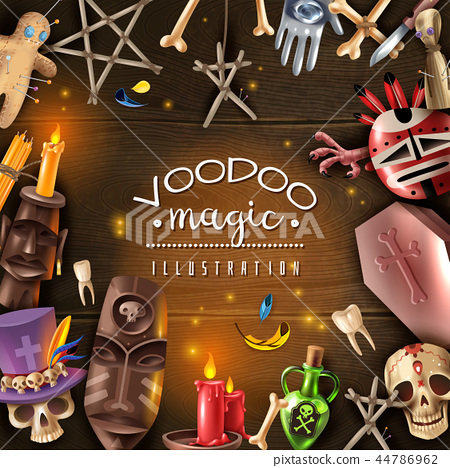 Voodoo Magic Realistic Frame  44786962