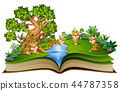 book, tiger, park 44787358