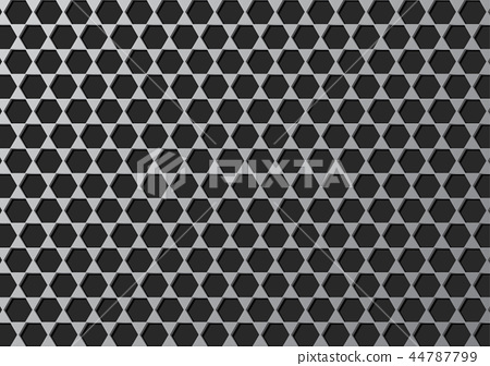 Steel grate polygon texture abstract background  44787799
