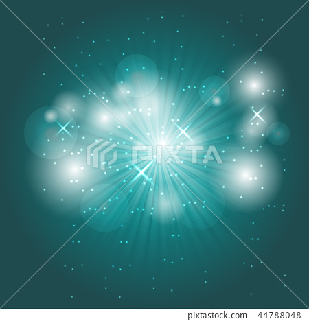 Abstract ray light on green background 44788048