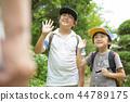 男孩在暑假 44789175
