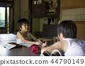 做家庭作業的男孩暑假 44790149