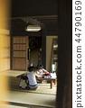 做家庭作業的男孩暑假 44790169