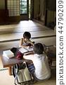 做家庭作業的男孩暑假 44790209