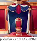 Royal throne in medieval castle cartoon vector 44790960