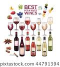 wine glass bottle 44791394