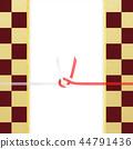 日本紙 - 日本 - 日本風格 - 日本模式 - 方格圖案 - 紅色和白色紙 -  Mizuhiki 44791436