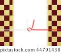 日本紙 - 日本 - 日本風格 - 日本模式 - 方格圖案 - 紅色和白色紙 -  Mizuhiki 44791438