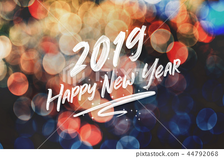 Brush stroke handwriting 2019 happy new year 44792068