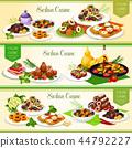 Sicilian italian cuisine dishes and desserts 44792227